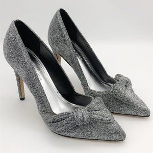 Marc Fisher Nighta Pewter Bow Pumps 7